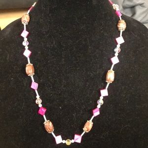 Jewelry - 🌸mother of pearl shell & zebra stone necklace